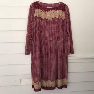 Vintage Boho Lightweight Sheer Long Sleeve Dress